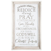 1 Thessalonians 5:16-18 Wood Wall Decor
